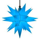 Herrnhuter LED Advents-und Weihnachts Stern A4, ca. 40 cm, Kunststoff, Blau , für Außen, wetterfest