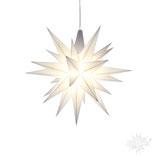 Herrnhuter LED Advents-und Weihnachts Stern A1e, 13 cm, Kunststoff, weiß
