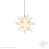 Herrnhuter LED Advents-und Weihnachts Stern A4, ca. 40 cm, Kunststoff, Opal , für Außen, wetterfest