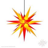 Herrnhuter LED Advents-und Weihnachts Stern A7, 68 cm, Kunststoff, Gelb / Rot, für Außen, wetterfest