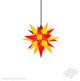 Herrnhuter LED Advents-und Weihnachts Stern A4, ca. 40 cm, Kunststoff, Gelb / Rot , für Außen, wetterfest