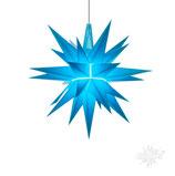 Herrnhuter LED Advents-und Weihnachts Stern A1e, 13 cm, Kunststoff, blau, LED Beleuchtung