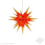 Herrnhuter Advents-und Weihnachts Stern I6, ca. 60cm, Papier, Gelb mit rotem Kern, nur für Innen geeignet