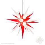 Herrnhuter LED Advents-und Weihnachts Stern A7, 68 cm, Kunststoff, Weiß / Rot, für Außen, wetterfest