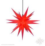 Herrnhuter LED Advents-und Weihnachts Stern A7, 68 cm, Kunststoff, rot, für Außen, wetterfest