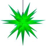 Herrnhuter LED Advents-und Weihnachts Stern A7, 68 cm, Kunststoff, Grün, für Außen, wetterfest