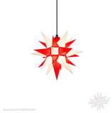 Herrnhuter LED Advents-und Weihnachts Stern A4, ca. 40 cm, Kunststoff, Weiß / Rot , für Außen, wetterfest