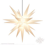 Herrnhuter Advents-und Weihnachts Stern A13, ca. 130 cm, Kunststoff, Weiß, für Außen, wetterfest