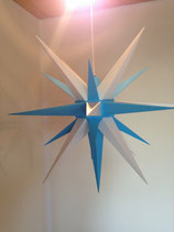 Herrnhuter LED Advents-und Weihnachts Stern A7, 68 cm, Kunststoff, Weiß / Blau, für Außen, wetterfest