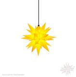 Herrnhuter LED Advents-und Weihnachts Stern A4, ca. 40 cm, Kunststoff, Gelb , für Außen, wetterfest
