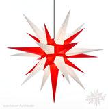 Herrnhuter Advents-und Weihnachts Stern A13, ca. 130 cm, Kunststoff, Weiß / Rot, für Außen, wetterfest