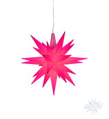 Herrnhuter LED Advents-und Weihnachts Stern A1e, 13 cm, Kunststoff, magenta, Sonderedition 2018,  LED Beleuchtung
