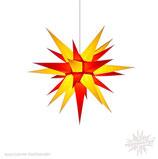 Herrnhuter Advents-und Weihnachts Stern I6, ca. 60cm, Papier, Gelb / Rot, nur für Innen geeignet