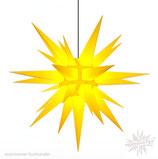 Herrnhuter Advents-und Weihnachts Stern A13, ca. 130 cm, Kunststoff, Gelb, für Außen, wetterfest