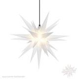 Herrnhuter LED Advents-und Weihnachts Stern A7, 68 cm, Kunststoff, Opal, für Außen, wetterfest