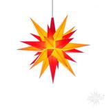 Herrnhuter LED Advents-und Weihnachts Stern A1e, 13 cm, Kunststoff, gelb / rot