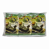 Grilled Laver with Olive Oil mit Green Tea Cut Nori ( 5gx 3 packs) ( 50% sale)