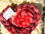 handgefärbter Kammzug Merino 18,5µ / Maulbeerseide # 8/8