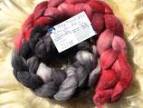 handgefärbter Kammzug Merino 18,5µ / Maulbeerseide # 8/13