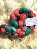 handgefärber Kammzug Merino 18,5µ / Maulbeerseide # 8/x