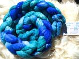 handgefärbter Kammzug Merino 18,5 µ / Maulbeerseide # 7/21