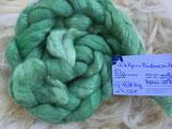 handgefärbter Kammzug white Alpaca 50% / Tussahseide 50%