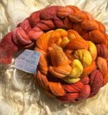handgefärbter Kammzug Merino 18,5µ/Maulbeerseide # 7/12
