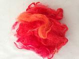 Handgefärbte Locken rot/orange