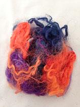 Handgefärbte Locken Multicolor