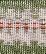 Grusskarte Blume grün abstrakt