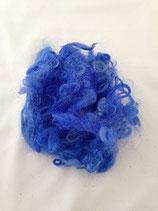 Handgefärbte Locken Royal Blau