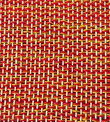 Grusskarte Leinen rot-gelb