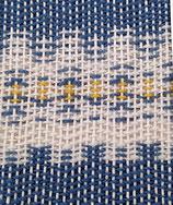 Grusskarte Blume blau abstrakt