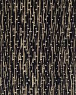 Grusskarte Wolle schwarz-gelb