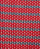 Grusskarte Leinen rot-blau Streifen
