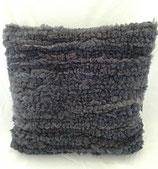 Kuschelkissen Schaffell grau