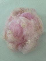 Handgefärbte Flocken rosa