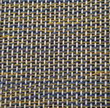 Grusskarte Leinen blau-gelb