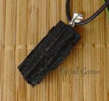 Schwarzer Turmalin (Schörl) Steinanhänger