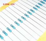 Metal Film Resistor (2.2 ohm  ,1/4W 0.25W)-10 stuks