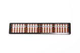 かめだけ理想型そろばん23桁(名前彫刻付き(機械彫り)・入門テキスト付き)品番:34100
