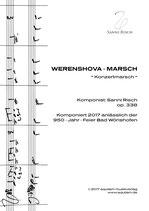 """""""WERENSHOVA - MARSCH"""" (Konzertmarsch)"""
