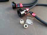 """Basic Black"" Ölkühler/Ölfilter Relocation Kit"