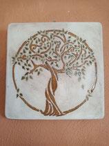 """Keramikplatte """"Lebensbaum"""""""