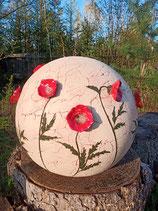 große Kugel mit Mohnblüten Fertigung auf Bestellung