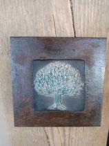Lebensbaum auf Metallplatte