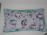Raschelkissen,Sport Cats mint, Rückseite mint ca 59 x 33  cm