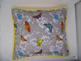 Raschelkissen Schmetterlinge, Rückseite  gelb ca 52 x 46 cm