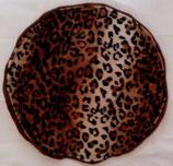 Raschelkissen Gepard Fell-Imitat, Rückseite Fleece schokobraun ca. 42 cm