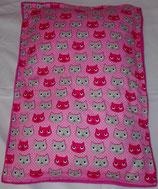Raschelkissen Ein Katzentraum in pink, Rückseite pink